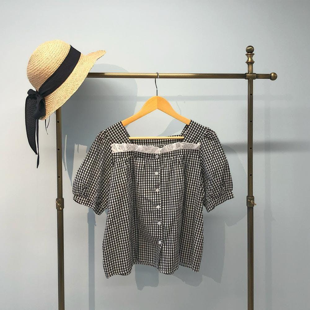 square gingham shirts