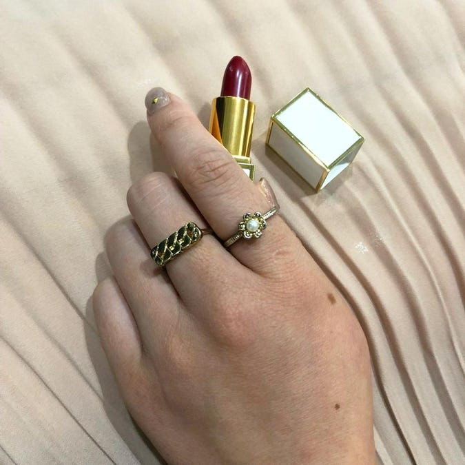 antique pearl ring set