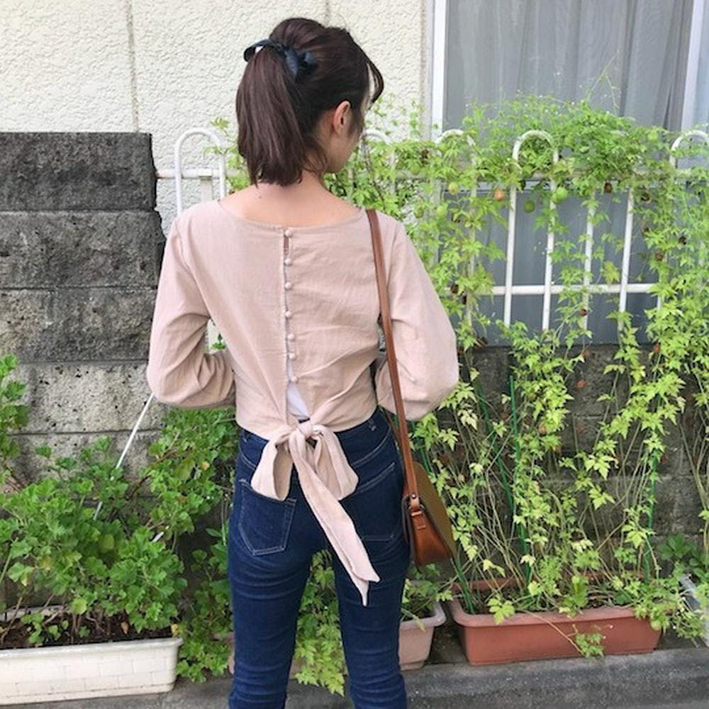 back ribbon blouse-0