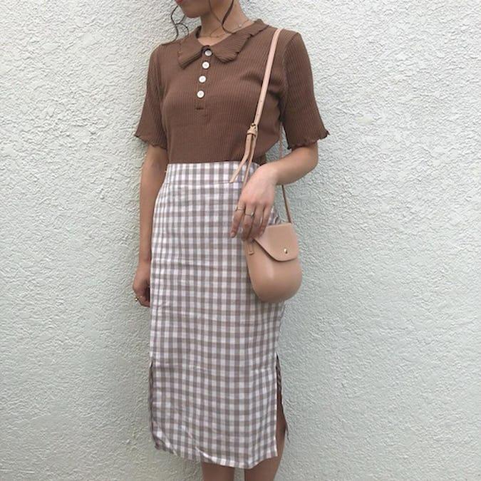 check midi skirts-0