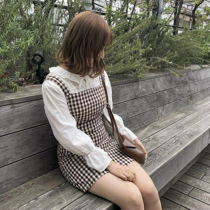 popcorn shirring blouse