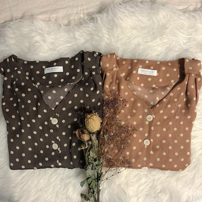 elegance dot blouse-0