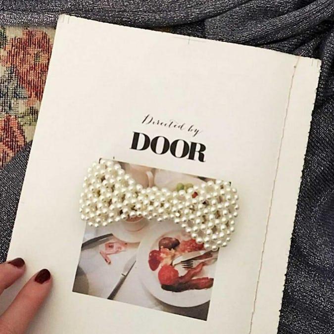 ribbon pearl barretta-0