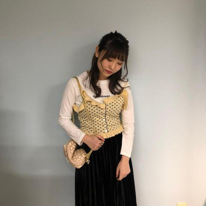 heart knit bustier