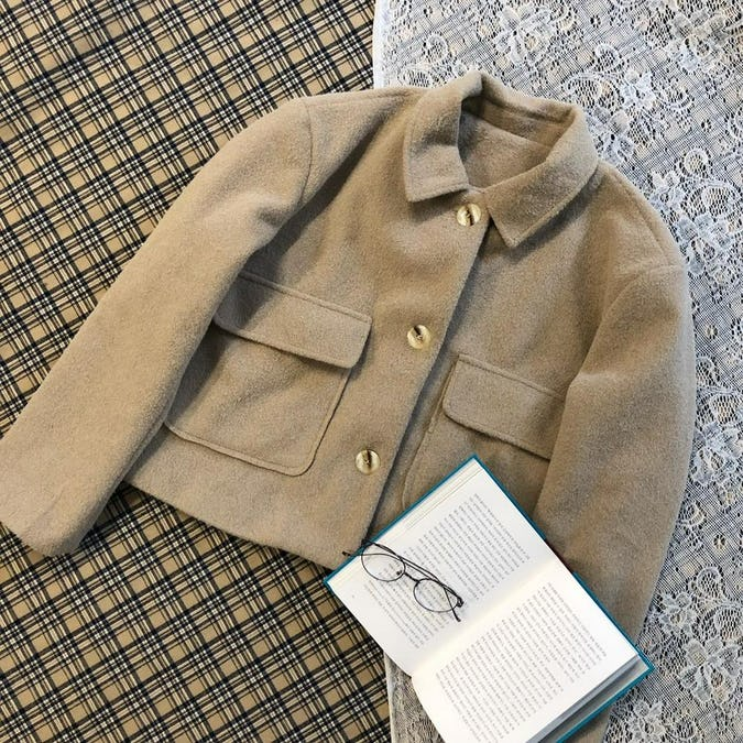 cashmere short coat