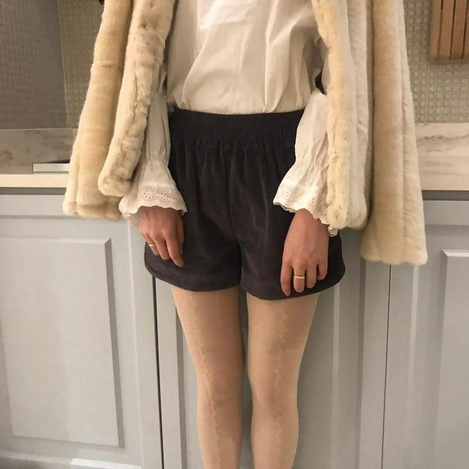 corduroy short pants
