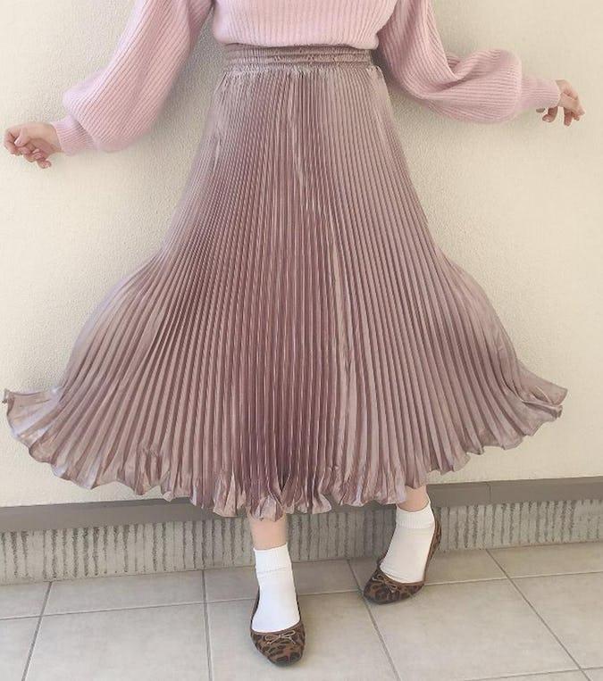 """ガーリー女子必見!ふわっと広がる""""プリーツスカート"""""""