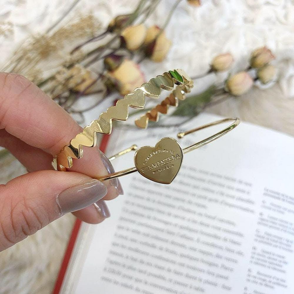 【5/21~順次発送】heart bracelet set