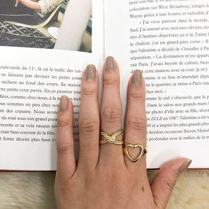 heart&knot ring set
