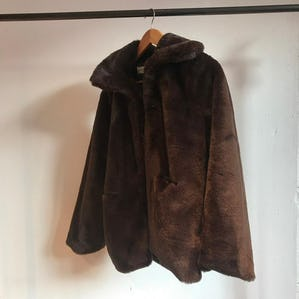 brown fur coat