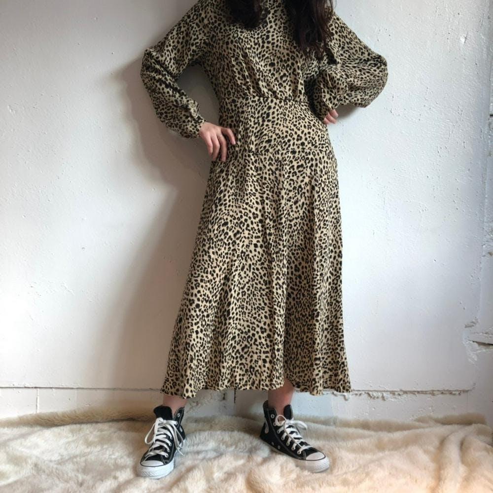 leopard long onepiece-0