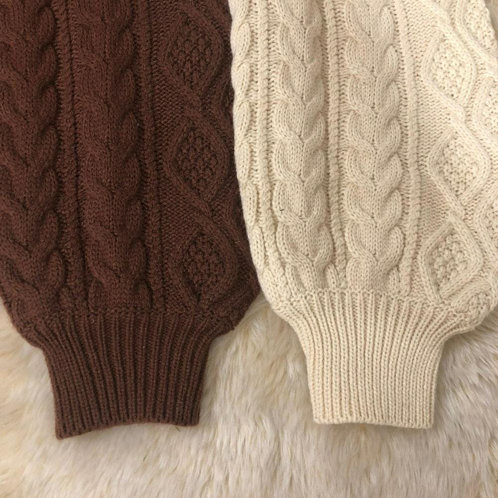 twisted knit onepiece-0