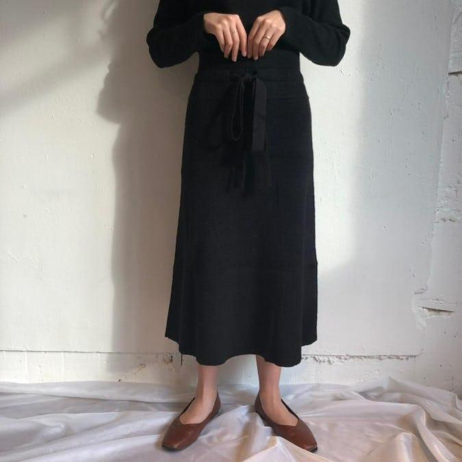 long knit skirt-0