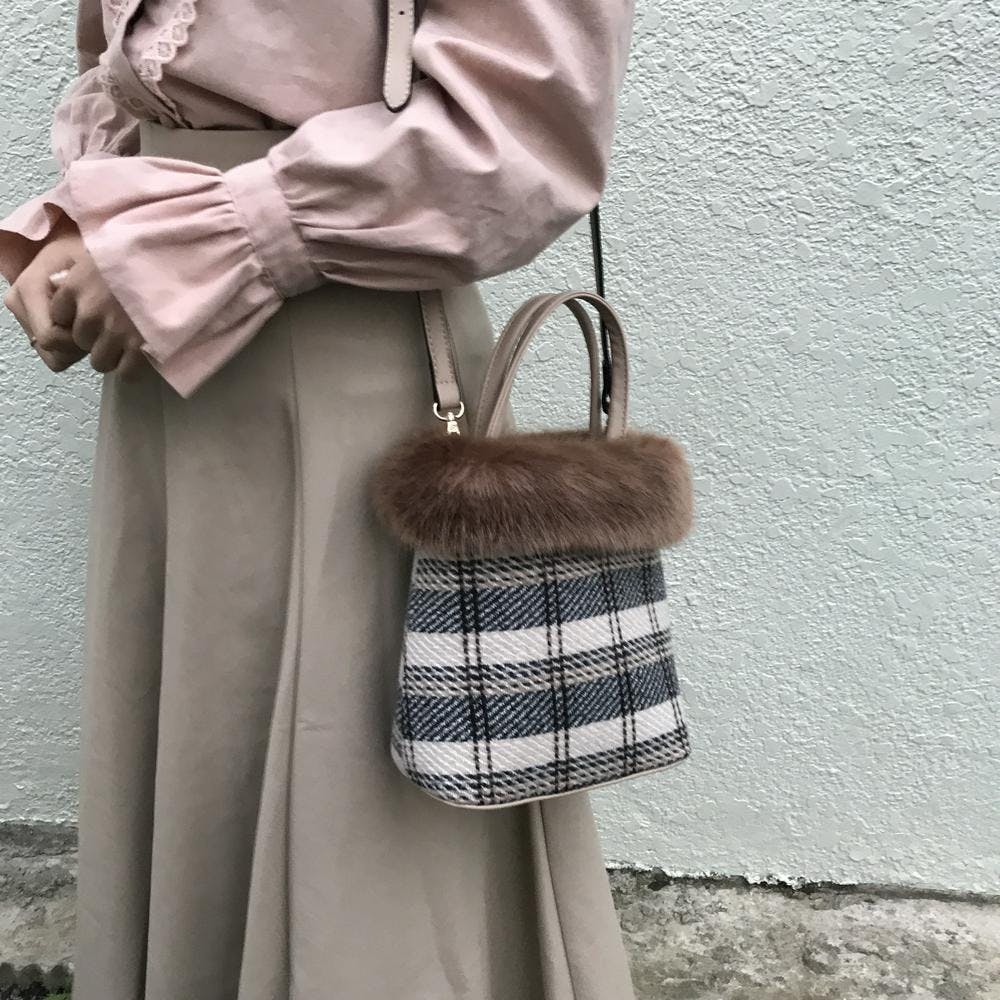 check fur totebag-0