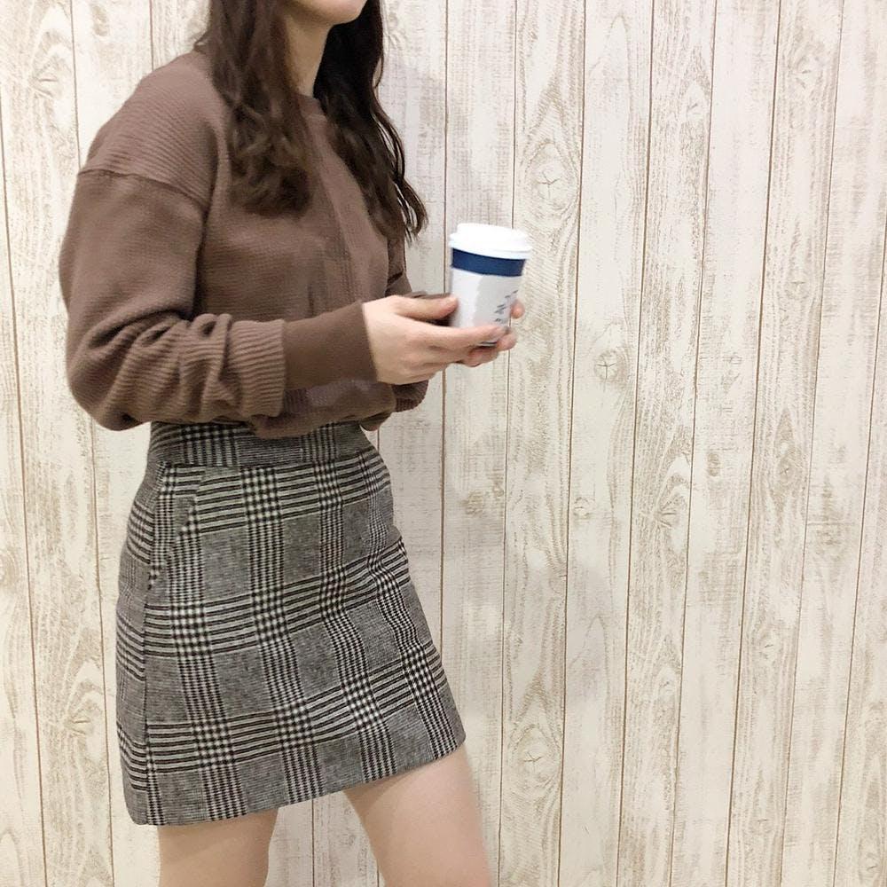 check mini skirt-0