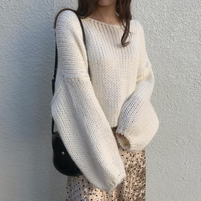 balloon sleeve knit