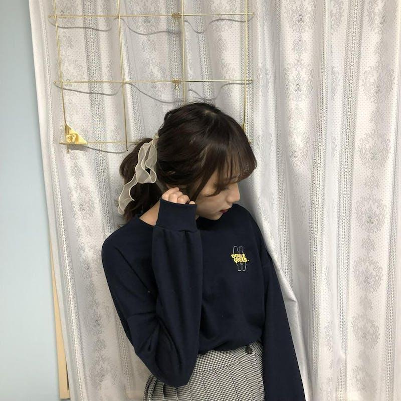 short logo sweat NAVYの画像1枚目