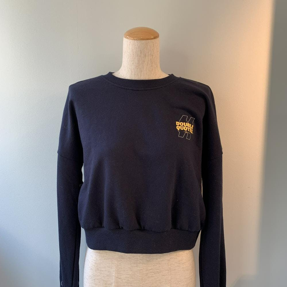 short logo sweat NAVY