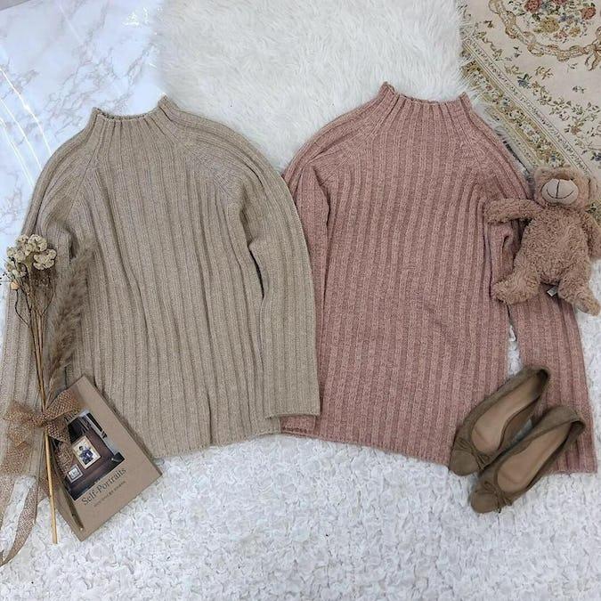 simple highneck knit-0