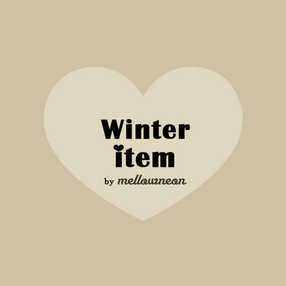 ♡ mellowneon winter item ♡