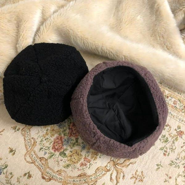 モコモコベレー帽の画像7枚目
