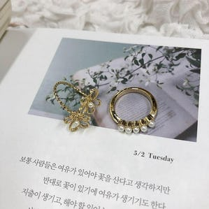 girly flower ring set