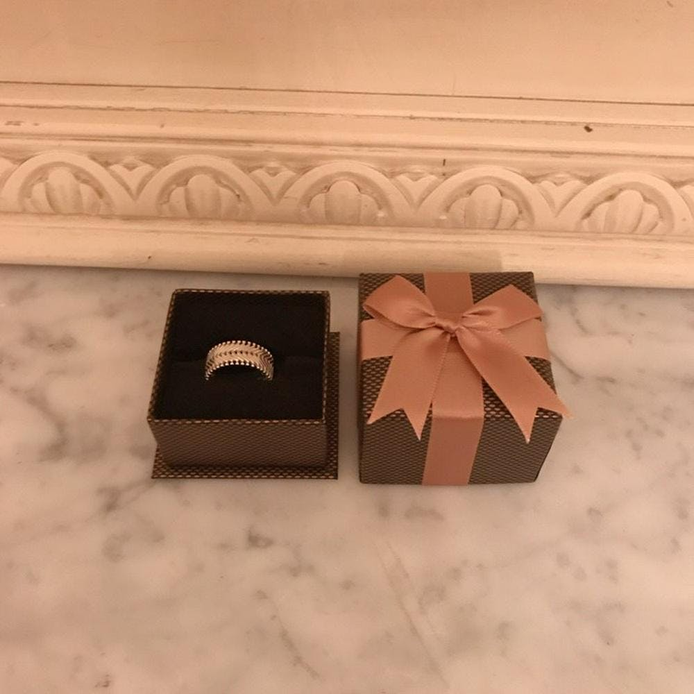 silver vintage ring