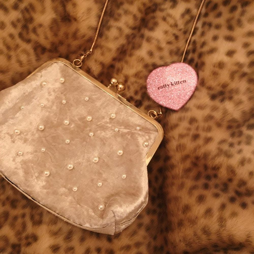 【2/20~順次発送】velvet pearl pouch-0