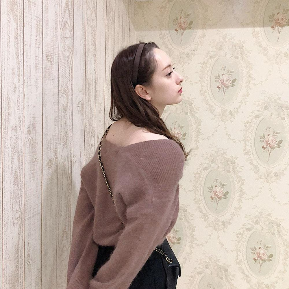 dusty pink off knit
