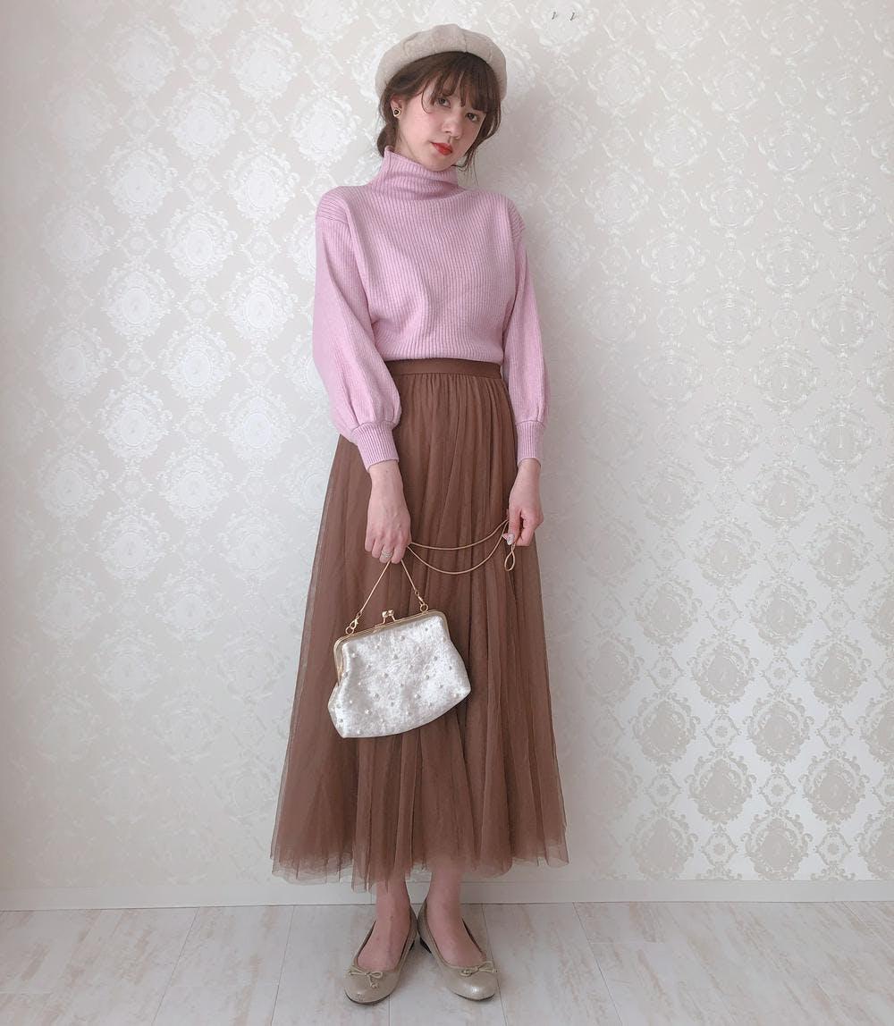 lady pink knit-0