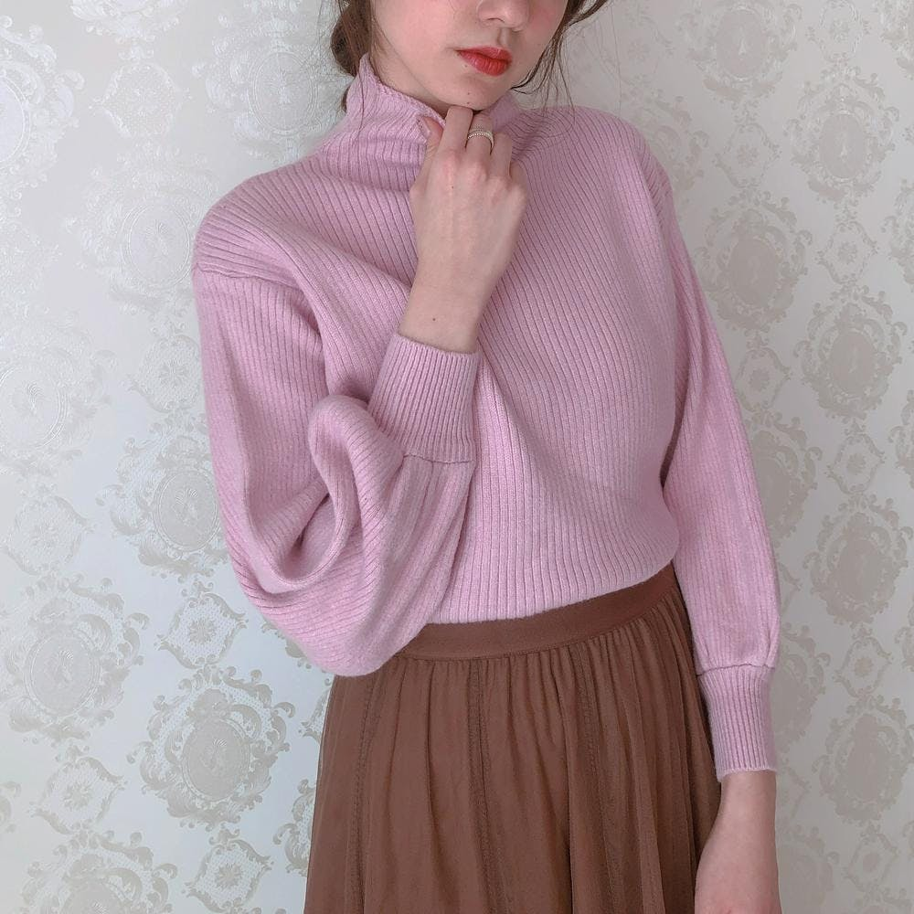 lady pink knit