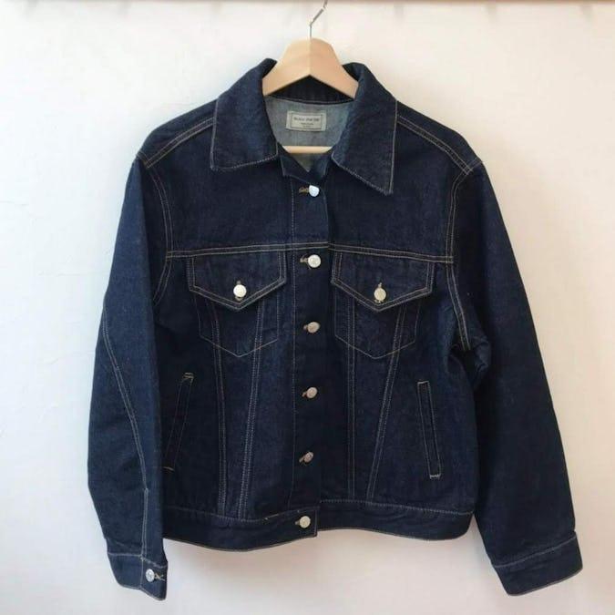 big stitch denim jacket