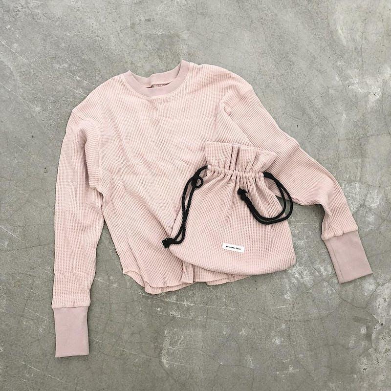 original long sleeve thermal《pink》の画像23枚目