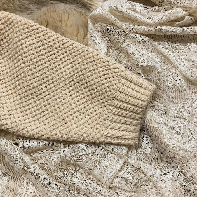 antique pearl cardigan