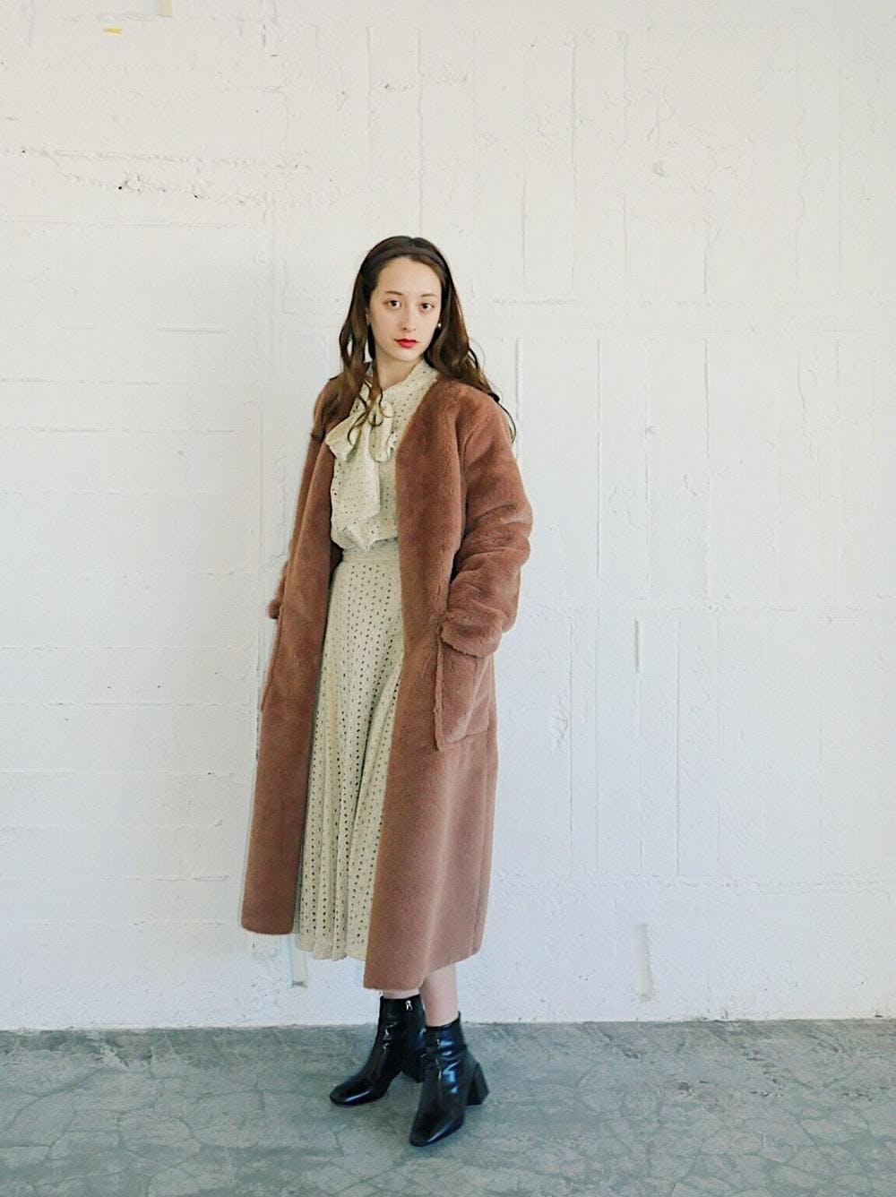 caramel fur coat-0