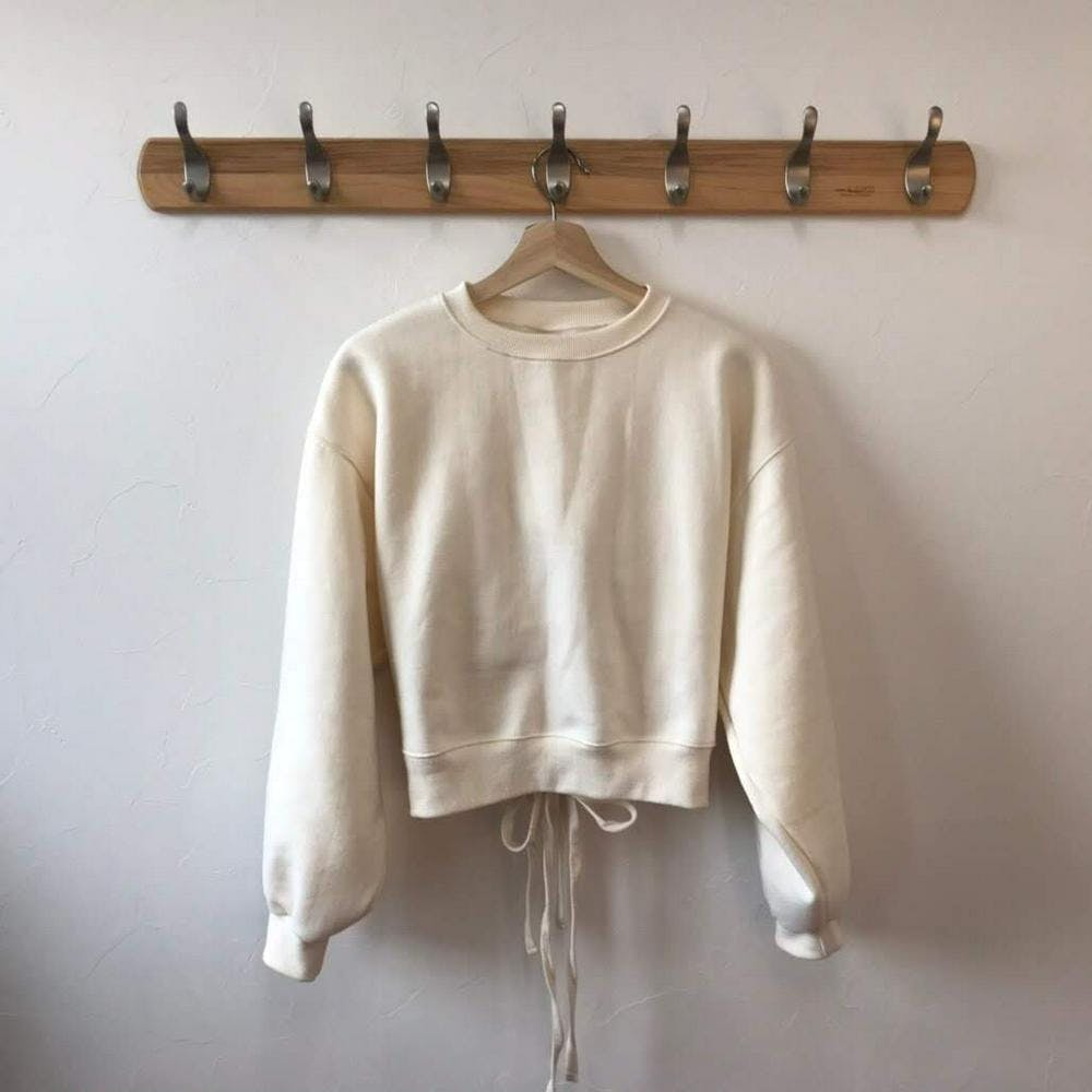 back laceup sweatshirt-0