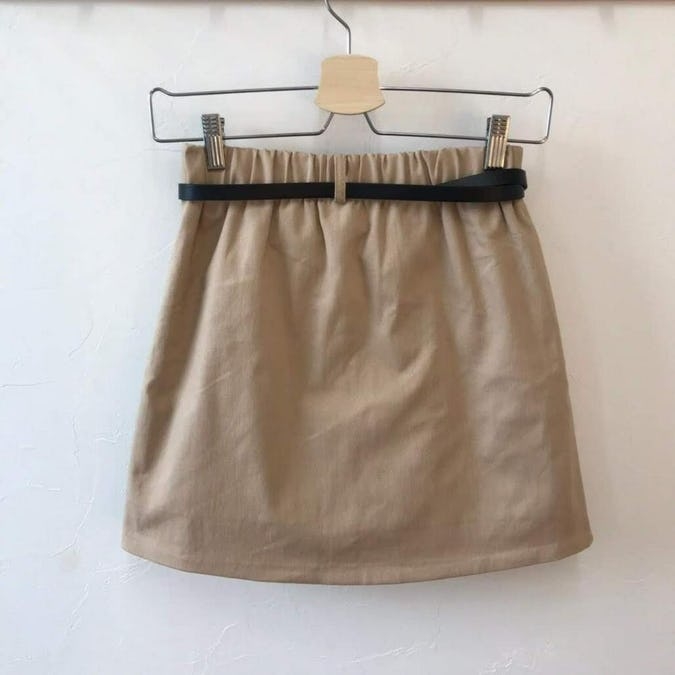 belt skirt with Inner pants