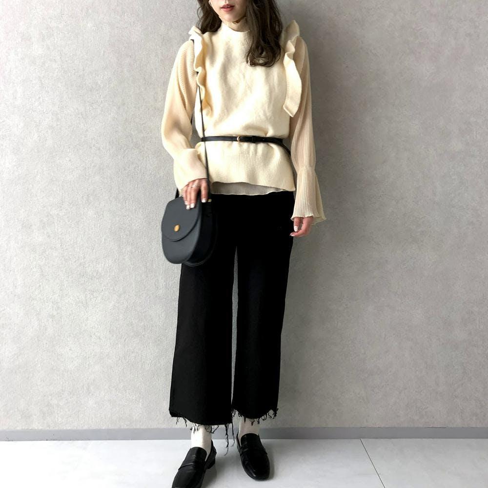 frill knit vest