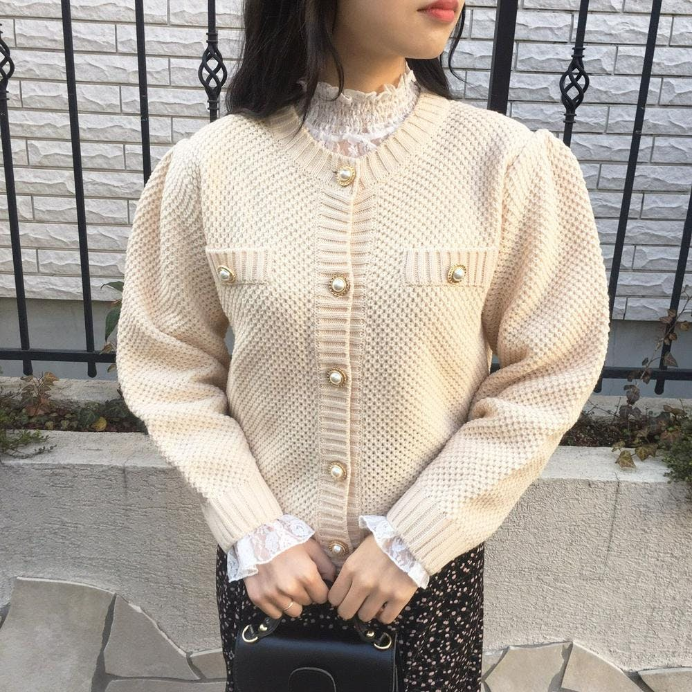 antique pearl cardigan-0