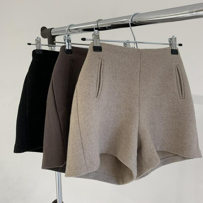 high waist short pants-0