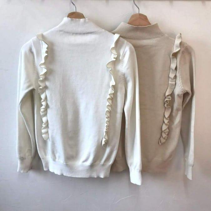 highneck frill knit