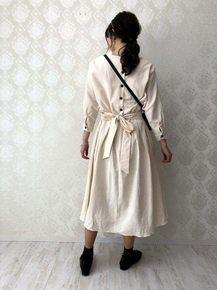 【5/21~順次発送】back ribbon onepiece
