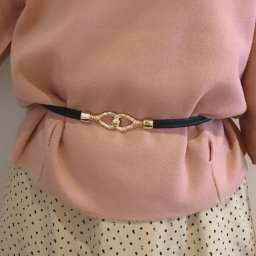 gold rope motif belt