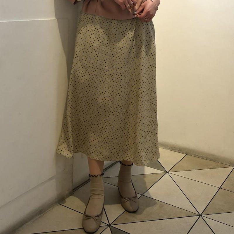 Aラインドットロングスカートの画像15枚目