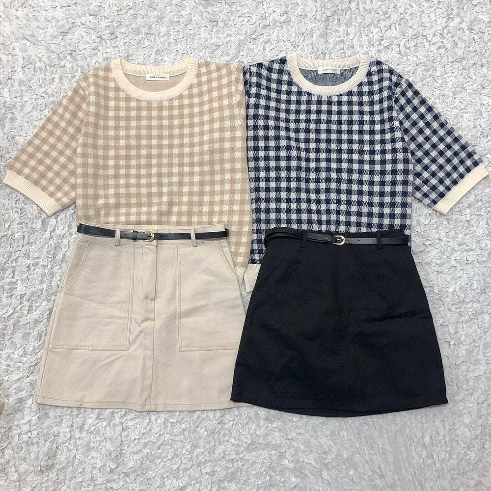 belt skirt with Inner pants