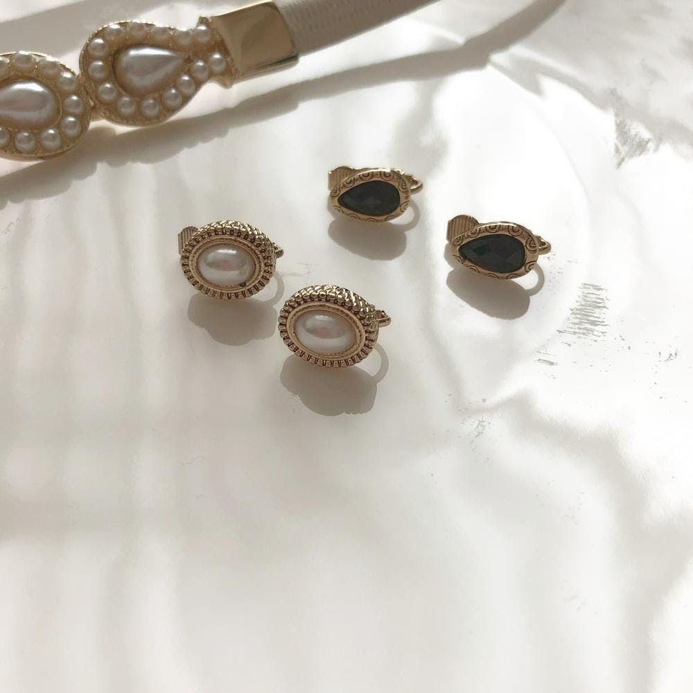 vintage pearl earring SET-0