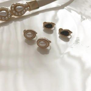 vintage pearl earring SET