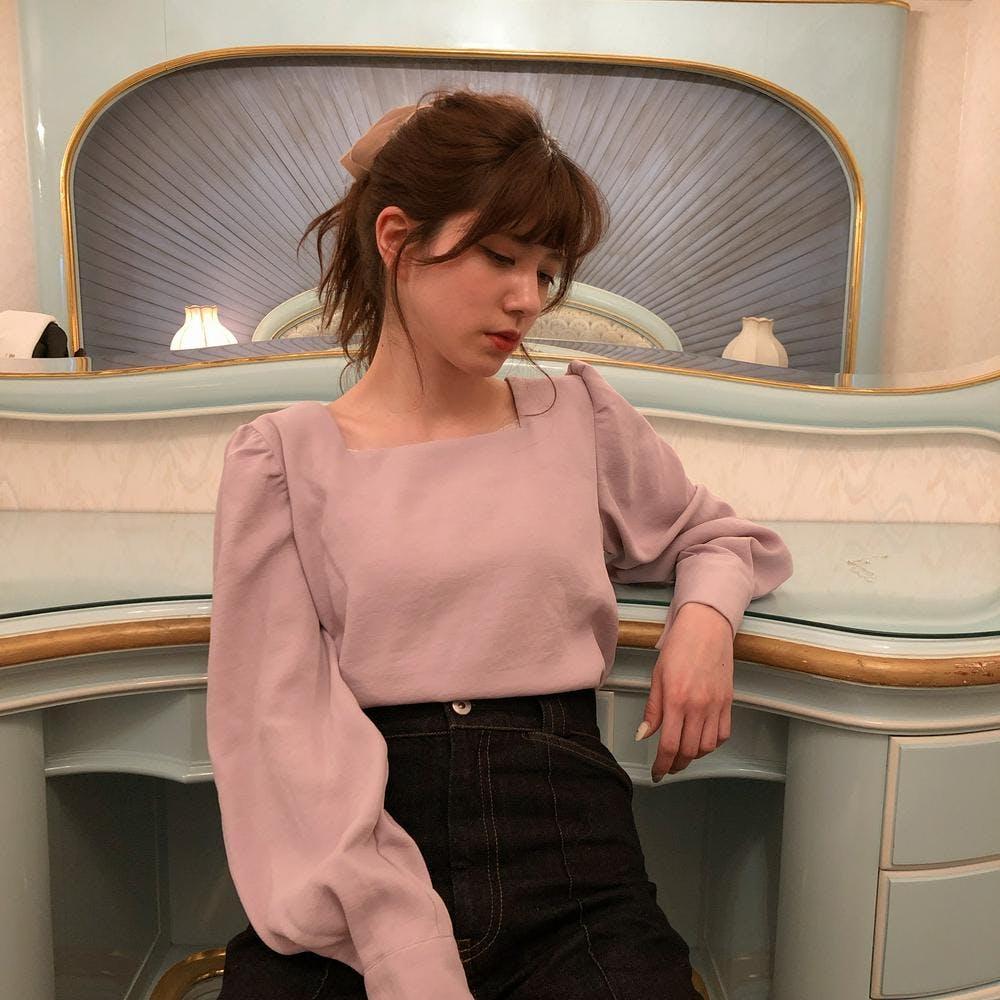【4/24~順次発送】square blouse-0