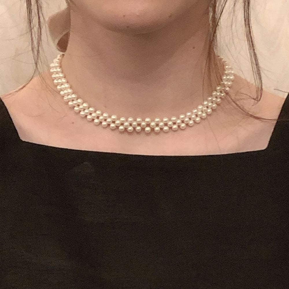 pearl choker-0