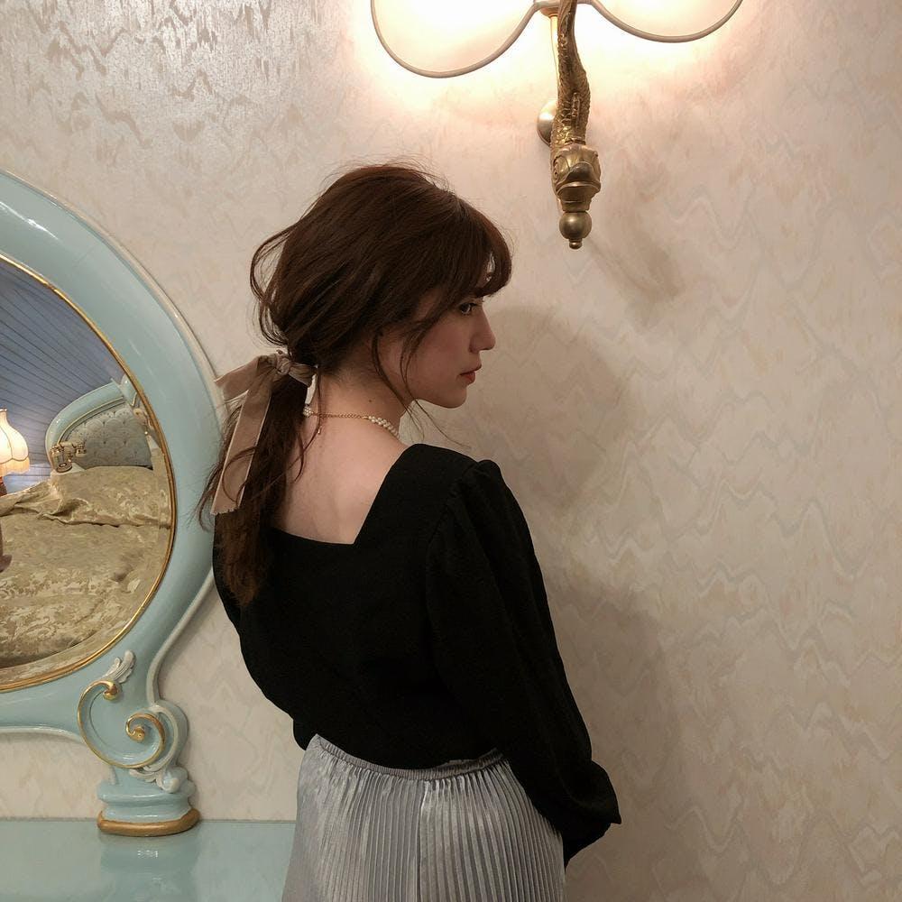 【4/24~順次発送】square blouse
